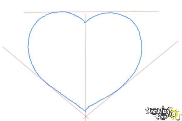 How to Draw a Realistic Heart - Step 3