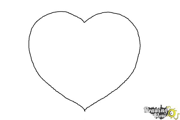 How to Draw a Realistic Heart - Step 4