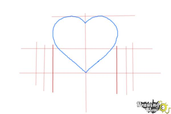 How to Draw a Heart With a Banner - Step 3