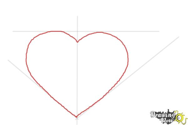 How to Draw a Heart Step by Step - Step 3