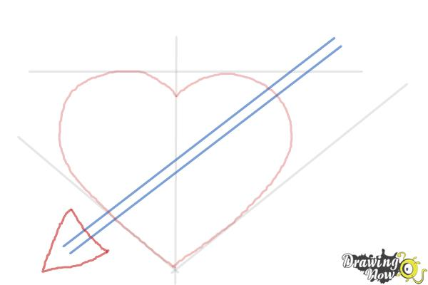 How to Draw a Heart Step by Step - Step 4
