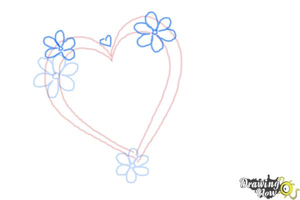 How to Draw a Fancy Heart - Step 4