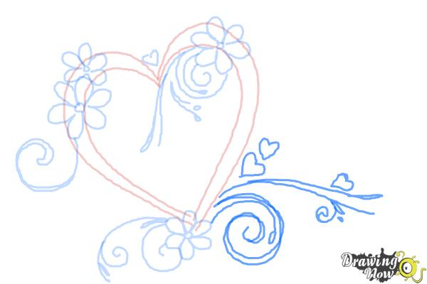 How to Draw a Fancy Heart - Step 7
