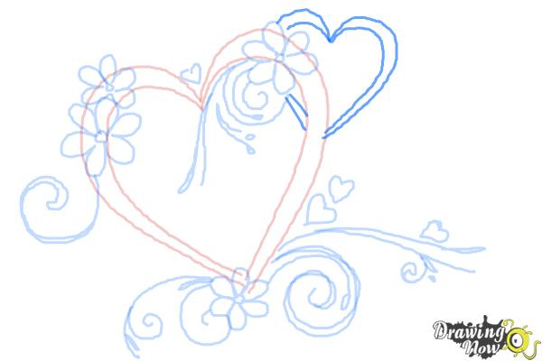 How to Draw a Fancy Heart - Step 8