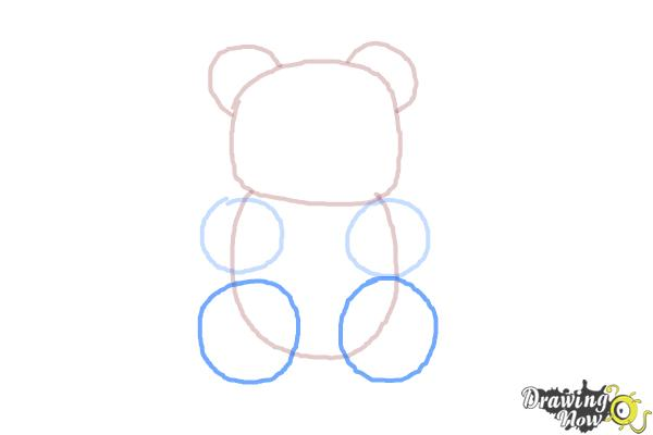 How to Draw a Gummy Bear - Step 5