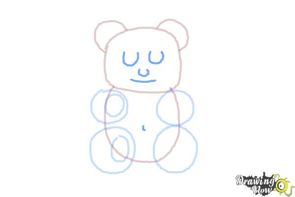 How to Draw a Gummy Bear - Step 7
