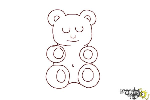 How to Draw a Gummy Bear - Step 8