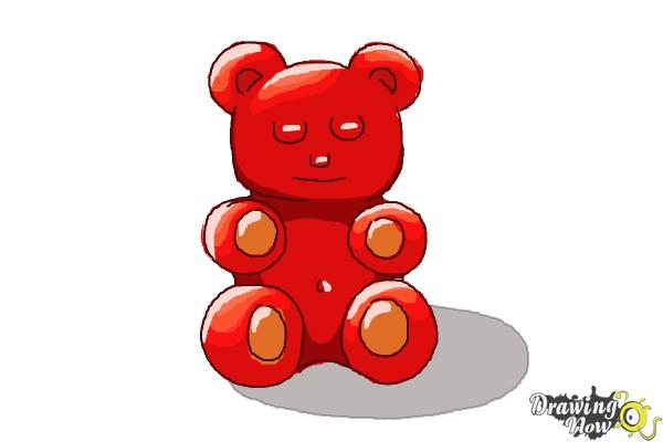 How to Draw a Gummy Bear - Step 9