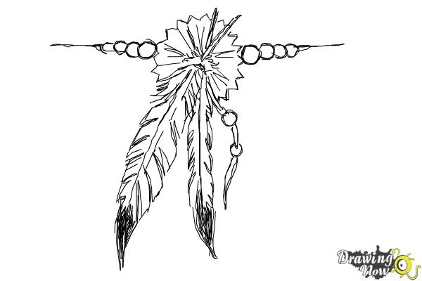 How to Draw a Feather Tattoo - Step 8
