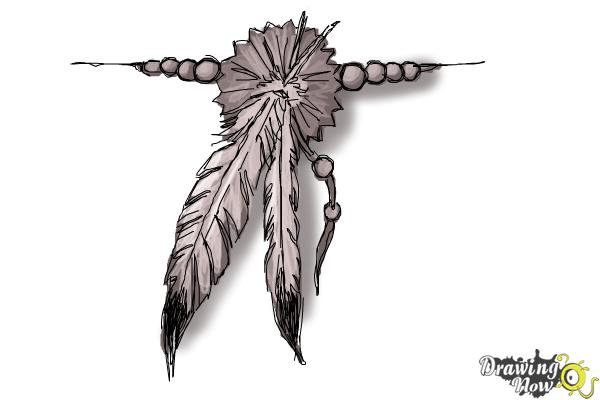 How to Draw a Feather Tattoo - Step 9