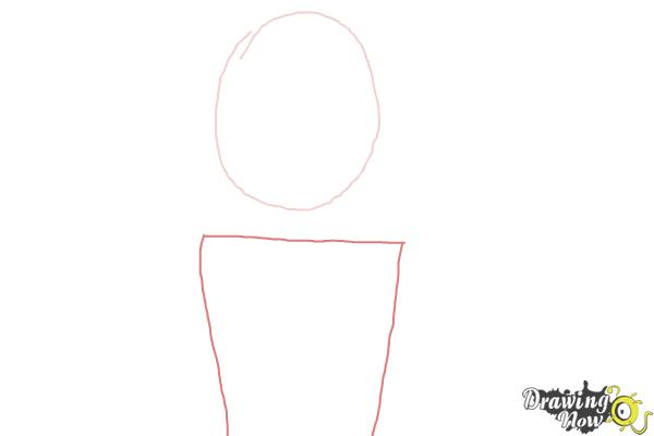 How to Draw a Fishtail Braid - Step 2