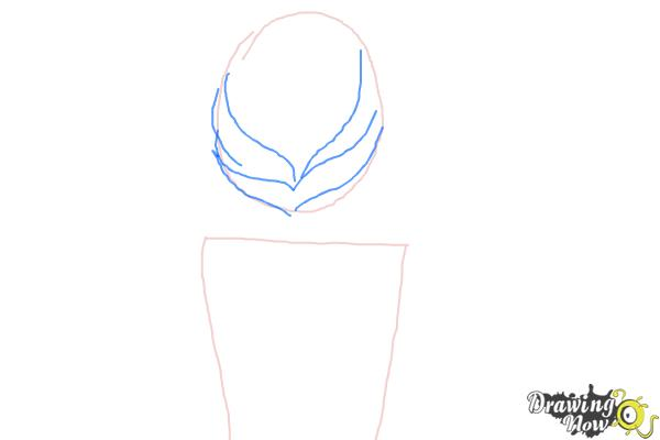 How to Draw a Fishtail Braid - Step 3