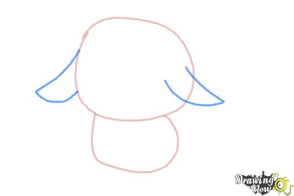 How to Draw a Chibi Pikachu - Step 3