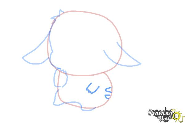 How to Draw a Chibi Pikachu - Step 6