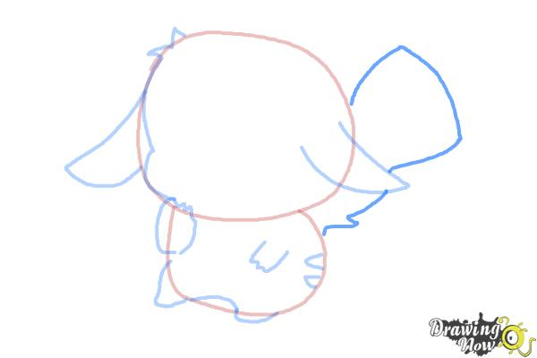 How to Draw a Chibi Pikachu - Step 7