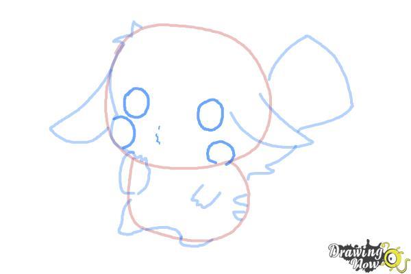 How to Draw a Chibi Pikachu - Step 8