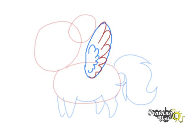 How to Draw Chibi Rainbow Dash from My Little Pony Friendship Is Magic - Step 4
