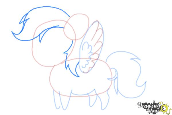 How to Draw Chibi Rainbow Dash from My Little Pony Friendship Is Magic - Step 5