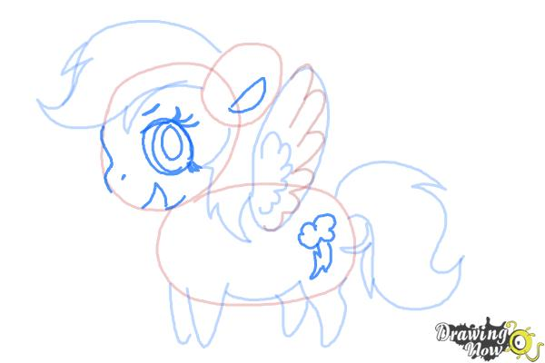 How to Draw Chibi Rainbow Dash from My Little Pony Friendship Is Magic - Step 6