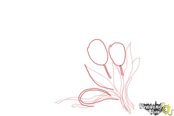 How to Draw a Bouquet Of Flowers - Step 5