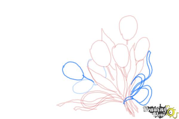 How to Draw a Bouquet Of Flowers - Step 7