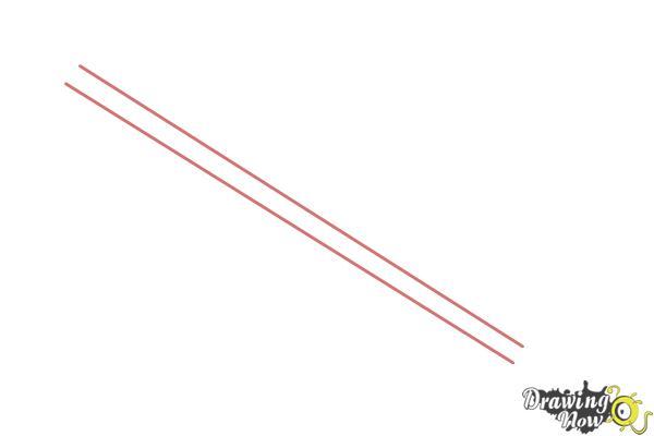 How to Draw a Keyblade - Step 1