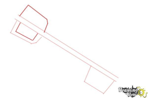How to Draw a Keyblade - Step 3