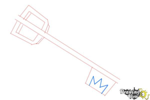 How to Draw a Keyblade - Step 5