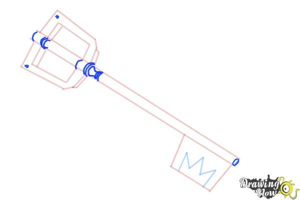 How to Draw a Keyblade - Step 6