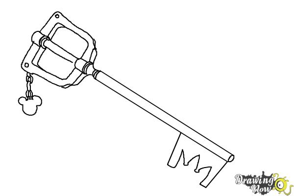 How to Draw a Keyblade - Step 8
