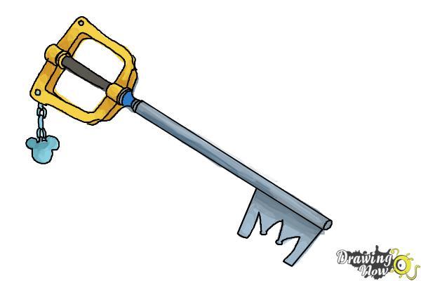 How to Draw a Keyblade - Step 9