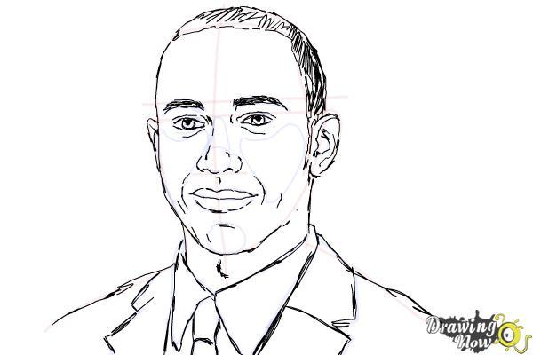 How to Draw Lewis Hamilton - Step 10
