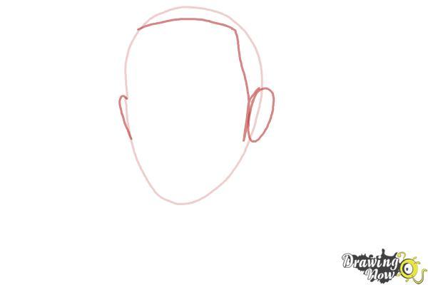How to Draw Lewis Hamilton - Step 2