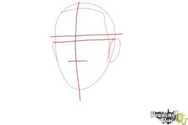 How to Draw Lewis Hamilton - Step 3