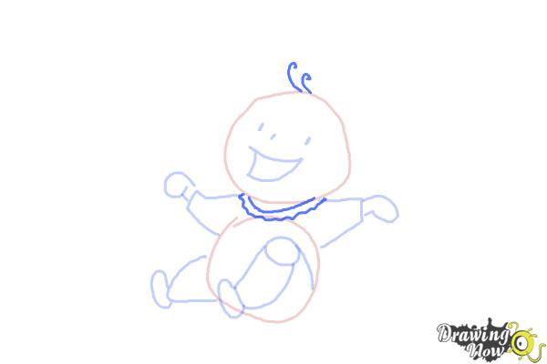 How to Draw a Kid - Step 8