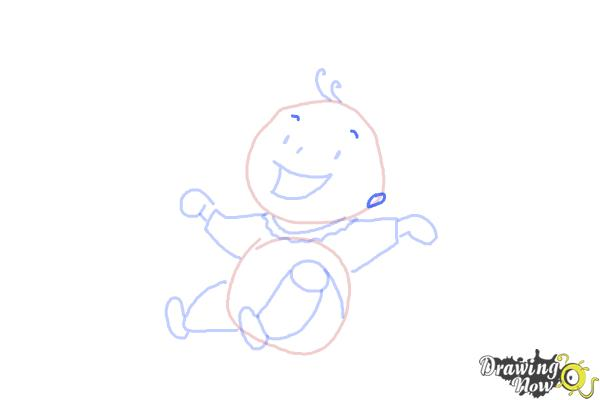 How to Draw a Kid - Step 9