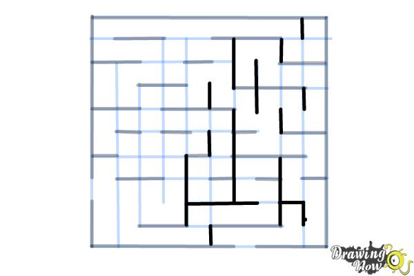 How to Draw a Labyrinth - Step 10