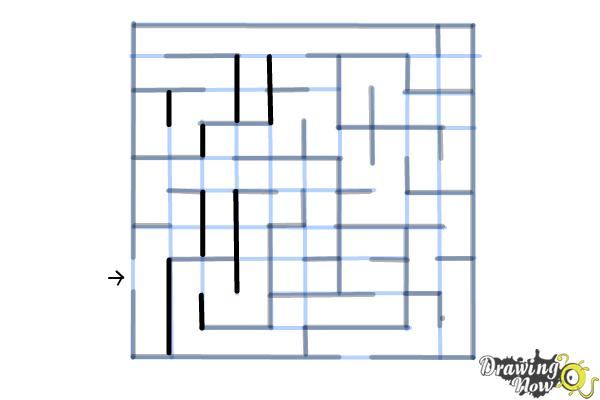 How to Draw a Labyrinth - Step 11