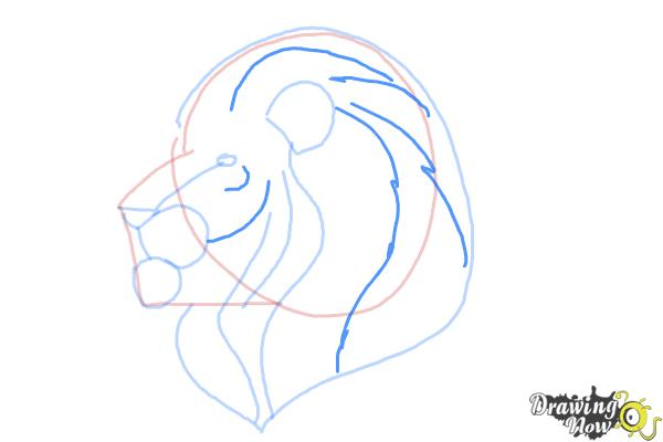 How to Draw a Lion Head - Step 7