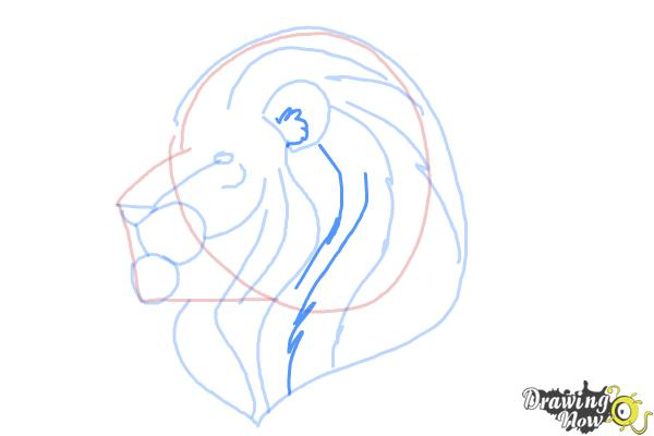 How to Draw a Lion Head - Step 8