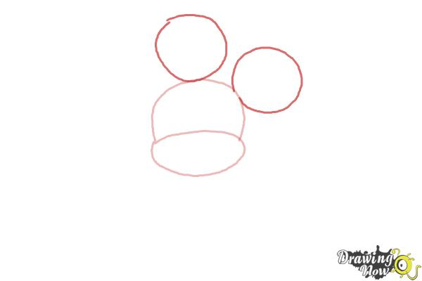 How to Draw Chibi Mickey Mouse - Step 2