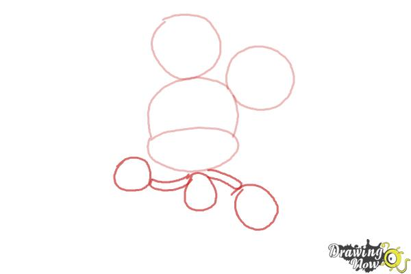 How to Draw Chibi Mickey Mouse - Step 3