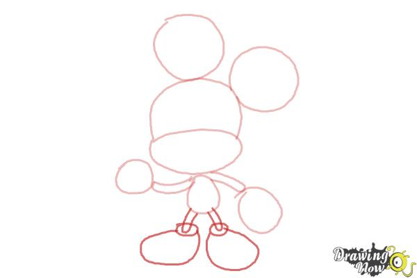 How to Draw Chibi Mickey Mouse - Step 4