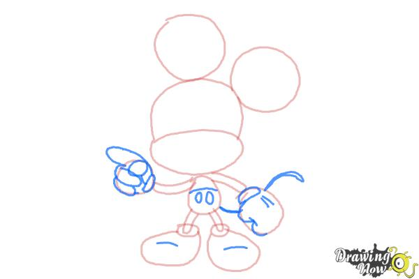 How to Draw Chibi Mickey Mouse - Step 5