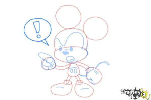 How to Draw Chibi Mickey Mouse - Step 7