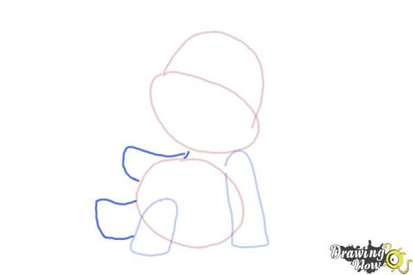 How to Draw a Cartoon Elephant - Step 4