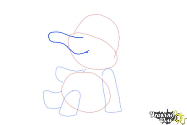 How to Draw a Cartoon Elephant - Step 5