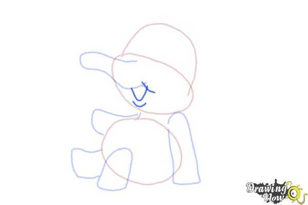 How to Draw a Cartoon Elephant - Step 6