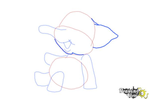 How to Draw a Cartoon Elephant - Step 7