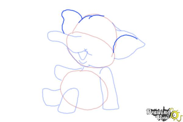 How to Draw a Cartoon Elephant - Step 8